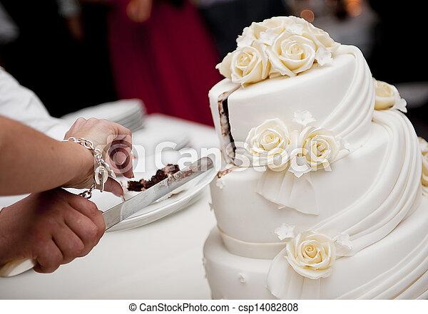 Tårta, bröllop - csp14082808
