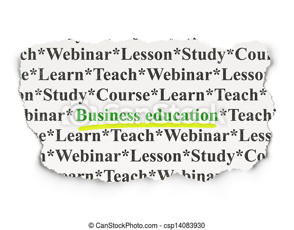 Education concept: Business Education on Paper background - csp14083930