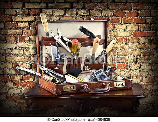 Do it yourself: case full of tools  - csp14084839