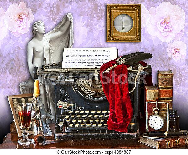 the old typewriter - csp14084887
