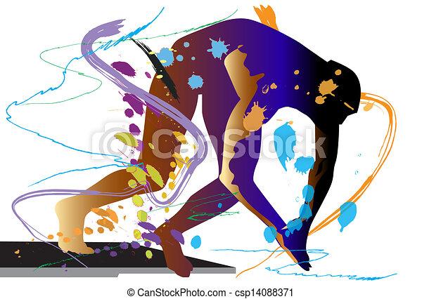 art-swimming - csp14088371
