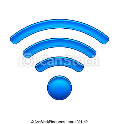 無線, シンボル, wifi, ネットワーク, ... ネットワーク, アイコン - 無線, ネ