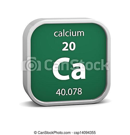 Calcium material sign - csp14094355