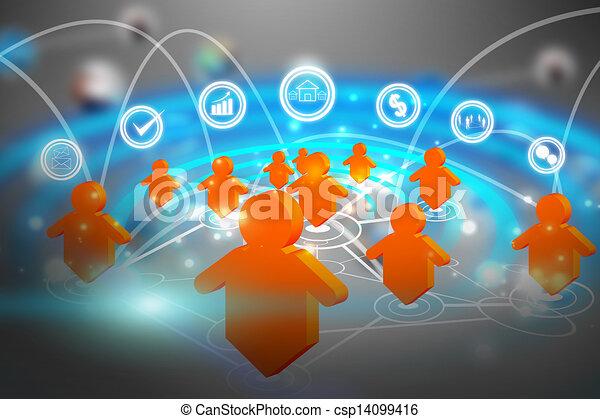 social media network communication - csp14099416