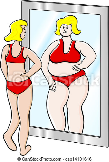 thick and thin woman - csp14101616
