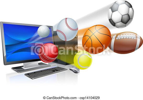 Sports computer app concept - csp14104029