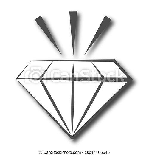 Dessin de symbole diamant diamant symbole csp14106645 - Diamant dessin ...