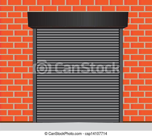 Clipart vettoriali di garage porte metallo cancelli for Disegni di addizione garage