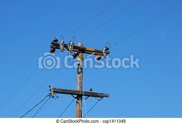 Wooden Electric Pole - csp1411048