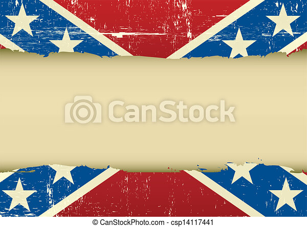 Confederate scratched flag - csp14117441