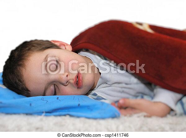 Boy sleeping - csp1411746