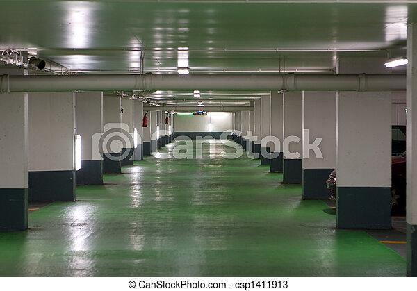 French Parking Garage - csp1411913