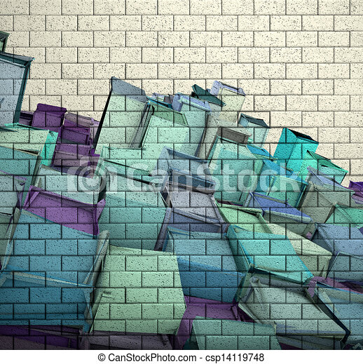 how to draw a 3d brick wall