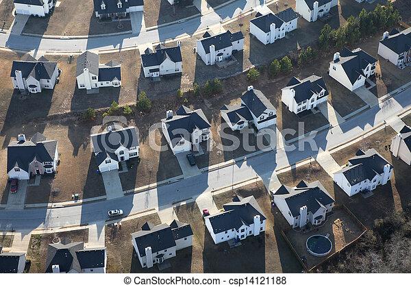 Modern Suburban Homes Aerial - csp14121188