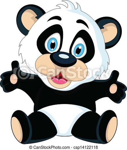 mignon sien main leve bb panda