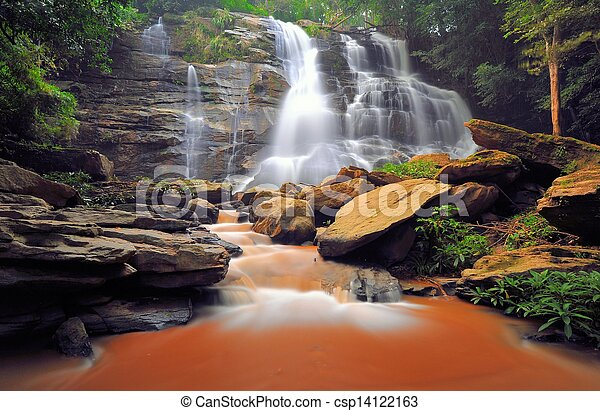 Beautiful water fall. - csp14122163