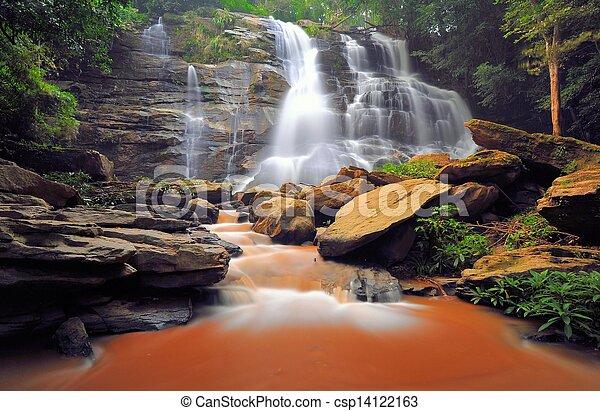 Beautiful water fall. - csp14122163