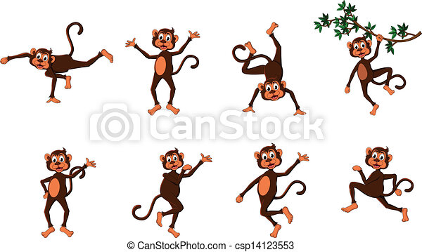 Monkey Clipart Vector Vector Cute Comical Monkey