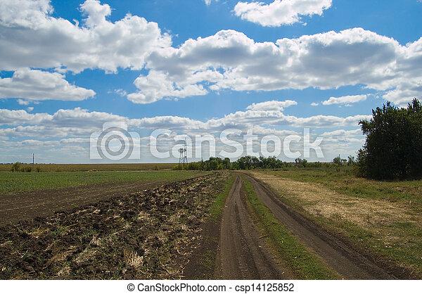 rural road - csp14125852