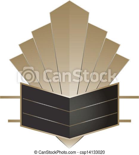 Art Deco Stye Badge - csp14133020