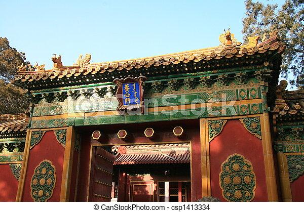 Forbidden city in Beijing - csp1413334