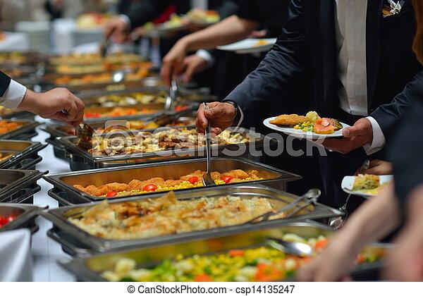 buffet food - csp14135247