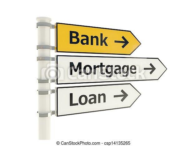 Bank road sign - csp14135265