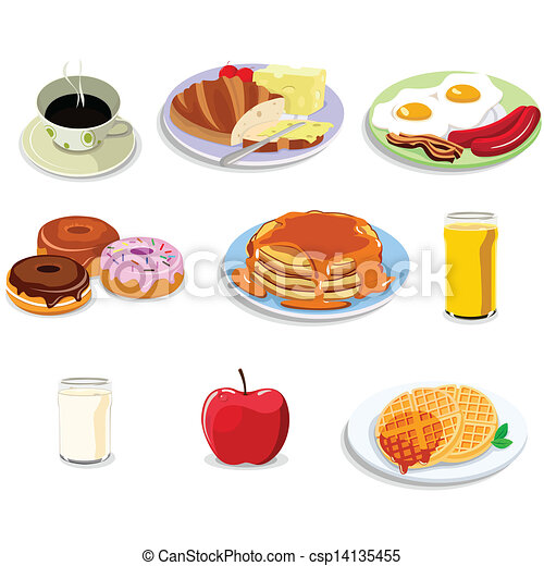 Breakfast food icons - csp14135455