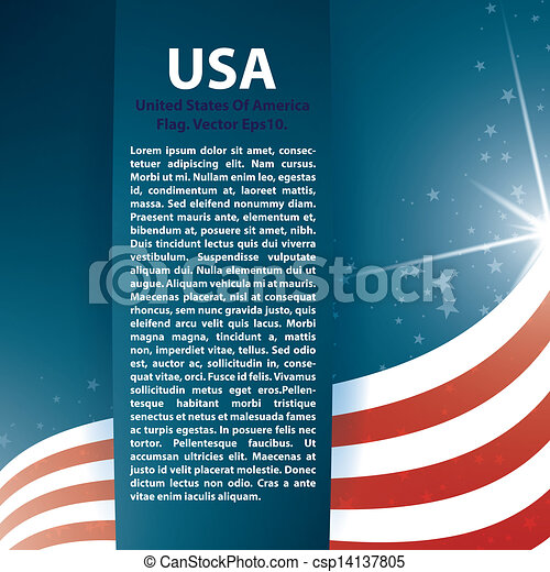 USA flag stars and Text Abstract Background - csp14137805
