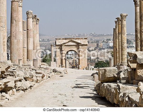 Roman city in Jerash - csp14140840