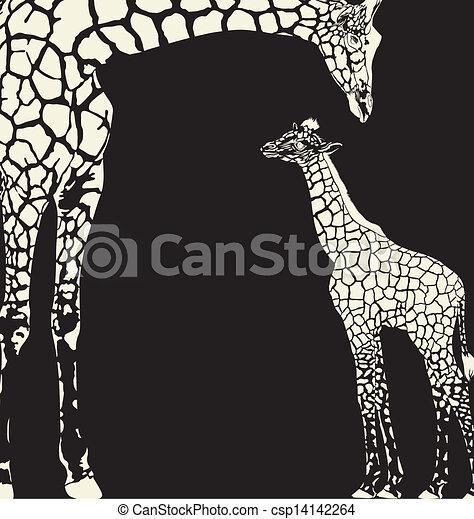 Inverse giraffe animal camouflage - csp14142264