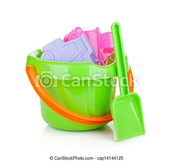 Baby beach sand toys - csp14144125