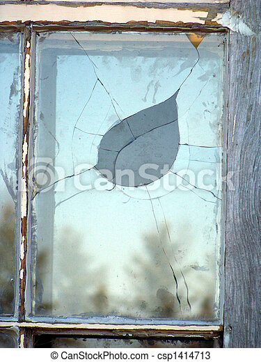 rotto, finestra, vetro - csp1414713