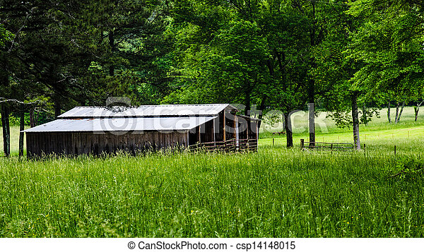 Rural barn in countryside - csp14148015