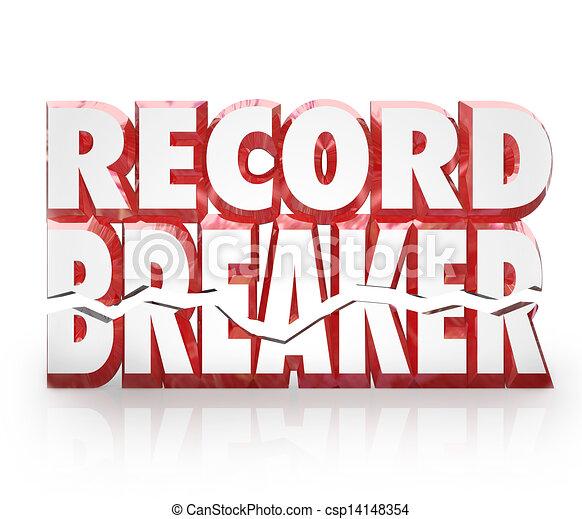 Record Breaker 3D Words Historic Best Score Results - csp14148354