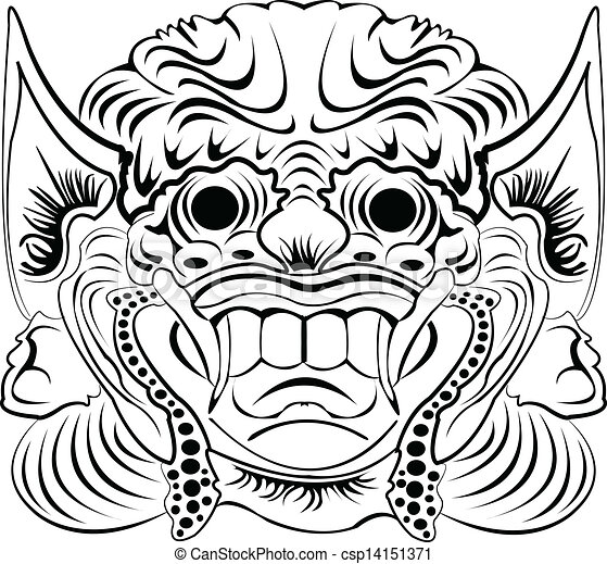 Illustrations Vectorises De Masque Indonsien Dmon