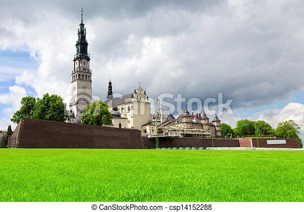 The Jasna Gora sanctuary in Czestochowa, Poland is most important pilgrimage place  - csp14152288
