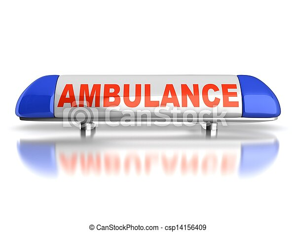ambulance emergency light - csp14156409