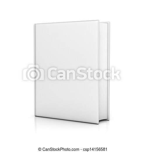 white book with blank covers - csp14156581
