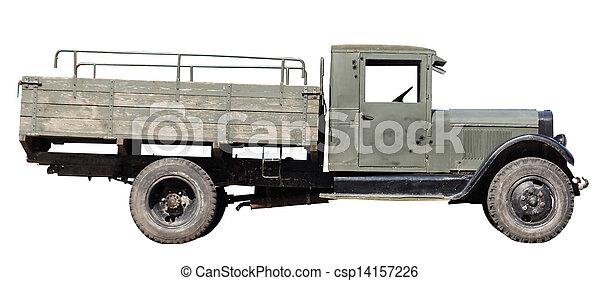 retro military car  - csp14157226