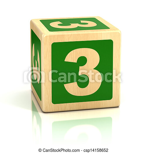 Stock Images of number three 3 wooden blocks font - number, block, isolated,... csp14158652 ...