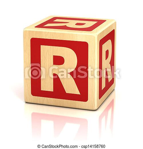 Stock Photo - letter r alphabet cubes font - stock image, images ...