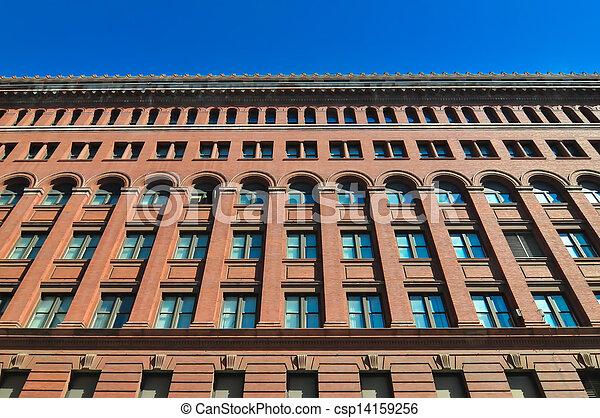 big red brick building - csp14159256