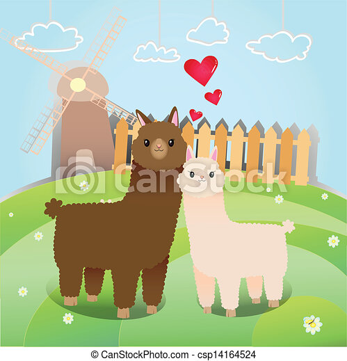 Clip Art Alpaca Clip Art alpaca illustrations and clip art 440 royalty free alpacas couple of in the little farm artby