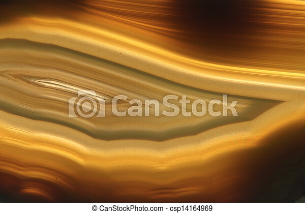 brown agate gem background (macro, detail)  - csp14164969
