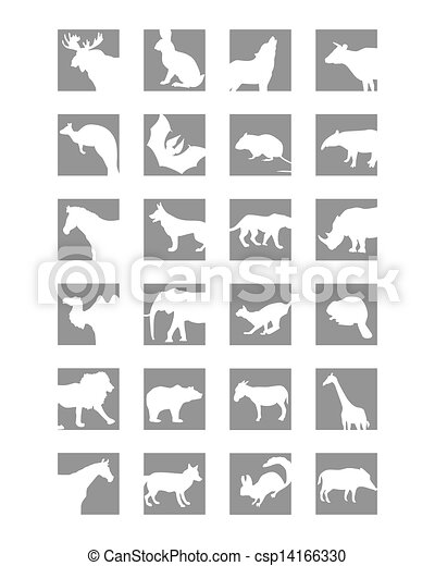mammals icon - csp14166330