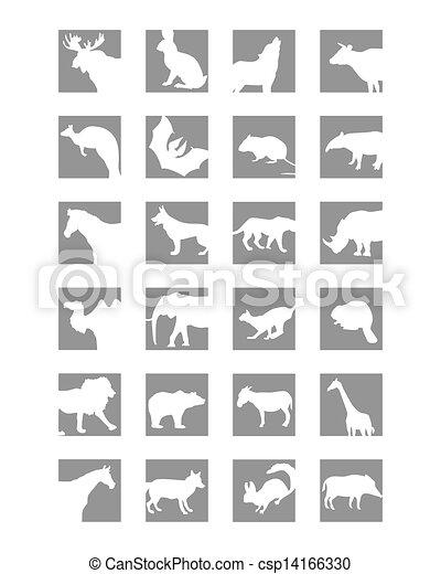 mammals icon - csp14166330