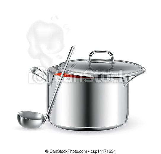 Hot soup, vector - csp14171634