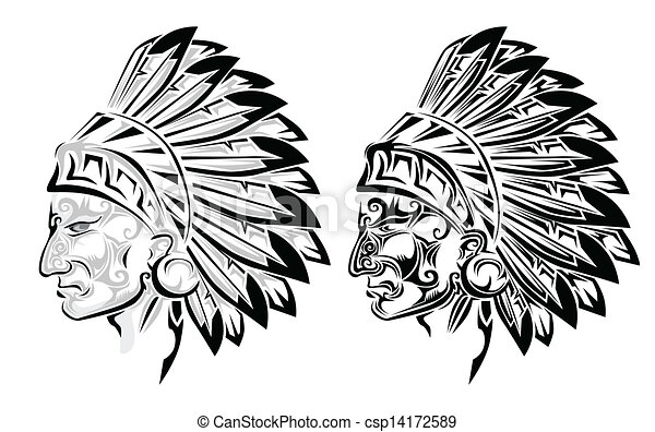 Tribal Chief Drawing American Indian Chief Tattoo