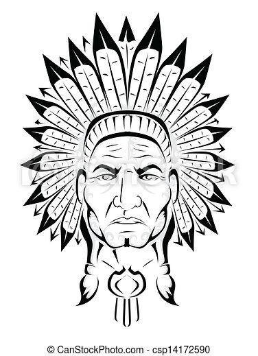 eps vectors of american indian chief csp14172590 search Indian Mascots and Logos Indian Chief Motorcycle Logo